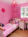 تصاميم غرف نوم وردية اللون للفتيات الصغيرات