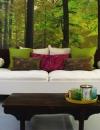 ديكورات غرف معيشة مستوحاة من الطبيعة5