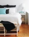 الدافيء البسيط  لايحتاج الى الكثير لجعل غرفة النوم جميلة