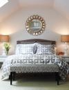 ستايل بيتر فاليكو قليل التكاليف حيث تكون غرفة النوم في  العلية  والمساحة قصيرة بين الارض والسقف , التزيين فيها قليل التكلفة