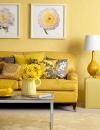 افكار وتصاميم لغرف المعيشة باللون الاصفر المشمس1