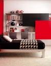 تصاميم غرف نوم باللون الاحمر والاسود6