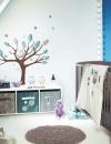 افكار تصاميم غرفة طفلة رضيعة صغيرة المساحة1