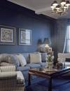 تصاميم جدران هادئة لغرفة المعيشة 1