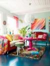 افكار تصاميم غرف معيشة ملونة4
