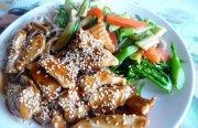 الدجاج مع السمسم - طبق صيني