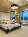 افكار تصاميم غرف نوم باللون الذهبي