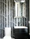 تصاميم حمامات راقية باللون الابيض و الاسود