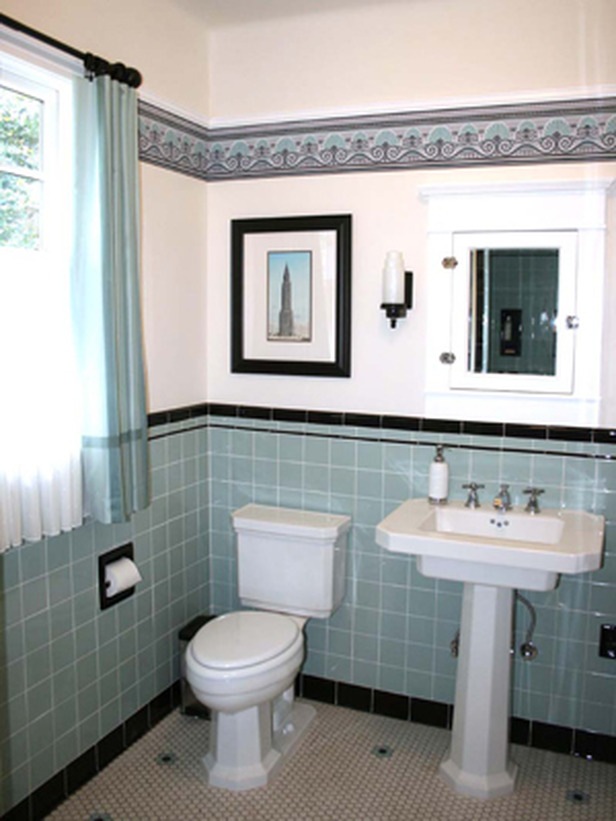 for 1920s bathroom designs