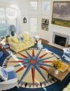 كيفية انشاء ديكور لغرفة معيشة في فصل الصيف7