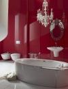 تصاميم وديكورات حمام باللون الاحمر