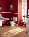 تصاميم وديكورات حمام باللون الاحمر4