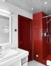 تصاميم وديكورات حمام باللون الاحمر5
