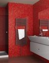 تصاميم وديكورات حمام باللون الاحمر7