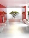 تصاميم وديكورات حمام باللون الاحمر8