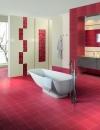 تصاميم وديكورات حمام باللون الاحمر9
