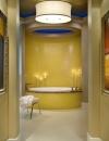 تصميم حمام مثير باللون الاصفر