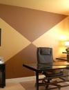 افكار تصاميم شيك لمكاتب منزلية باللون البني1