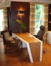 افكار تصاميم شيك لمكاتب منزلية باللون البني5
