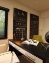 افكار تصاميم شيك لمكاتب منزلية باللون البني6