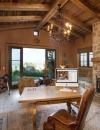 افكار تصاميم شيك لمكاتب منزلية باللون البني14