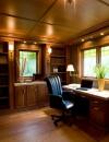 افكار تصاميم شيك لمكاتب منزلية باللون البني16