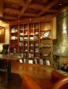 افكار تصاميم شيك لمكاتب منزلية باللون البني17