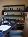 افكار تصاميم شيك لمكاتب منزلية باللون البني23