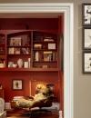 افكار تصاميم شيك لمكاتب منزلية باللون البني29