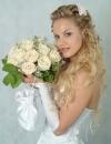 تسريحات الزفاف للشعر الطويل