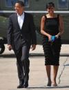 ميشيل أوباما عند زيارتها لنيويورك في فستان من عز الدين عليا