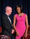 ميشيل أوباما في حفل عشاء لمراسلي البيت الابيض في فستان من مايكل كورز