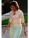 ميشيل أوباما اختارت تنورة وسويتر من سباركلي جي في زيارة ل10 داوننغ ستريت في لندن
