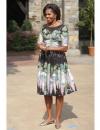 ميشيل اوباما في فستان زهري فاتح