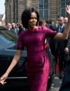 ميشيل أوباما في ثوب مطبوع بالازهار من ثاكون