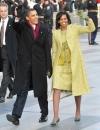 ميشيل اوباما في يوم التنصيب يناير 2009 بثوب انيق بلون الليمون من ايزابيل توليدو