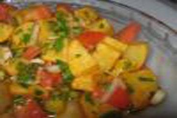 سلطة البطاطا المقلية -سلطة كويتية