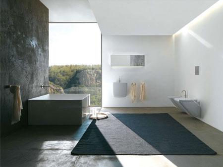 تصاميم حمامات عصرية حجرية مميزة8