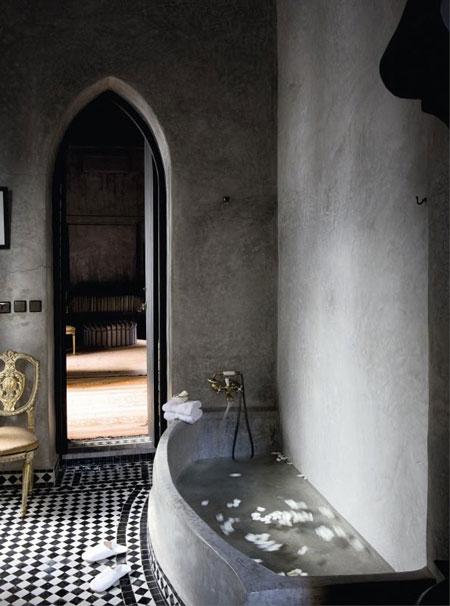 تصاميم حمامات عصرية حجرية مميزة6