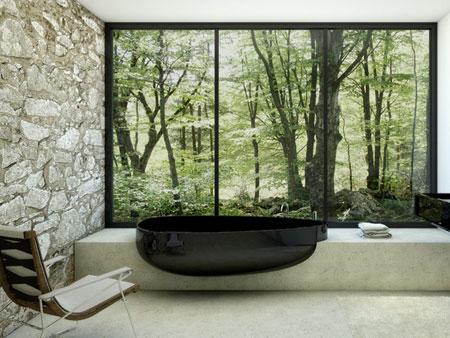 تصاميم حمامات عصرية حجرية مميزة5