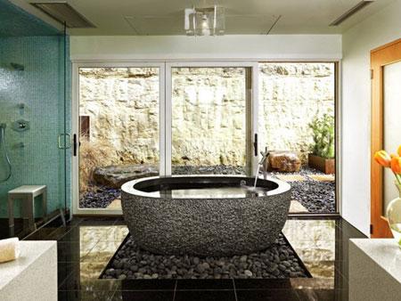 تصاميم حمامات عصرية حجرية مميزة4