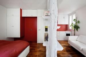 افكار تصاميم ديكورات داخلية لشقق صغيرة جدا مساحة 25 متر مربع