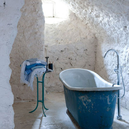 تصاميم حمامات عصرية حجرية مميزة3