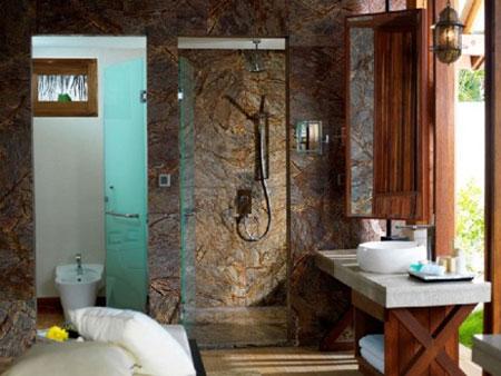 تصاميم حمامات عصرية حجرية مميزة2