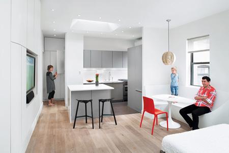 شقة صغيرة  مساحة 57 متر مربع