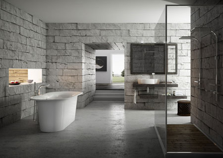 تصاميم حمامات عصرية حجرية مميزة10