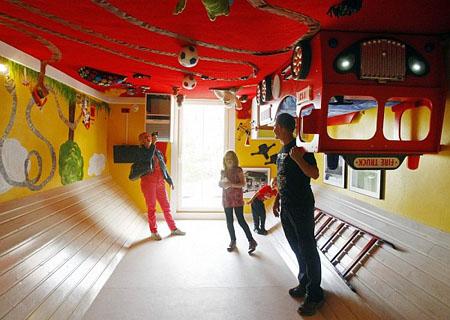 صور المنزل المقلوب من الداخل غرفة الاطفال