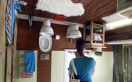 صور المنزل المقلوب من الداخل الحمام