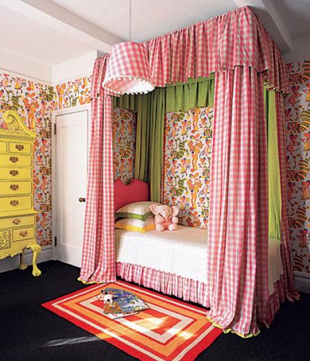 افكار تصاميم غرف نوم بمظلة فوق السرير5