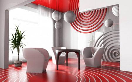 تصاميم ديكورات جدران حائط متناسقة5